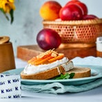 Peaches and Almond Butter Toast